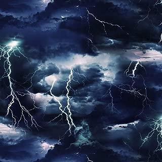 Landscape Medley~Stormy Skies~Lightning Cotton Fabric by Elizabeths Studio