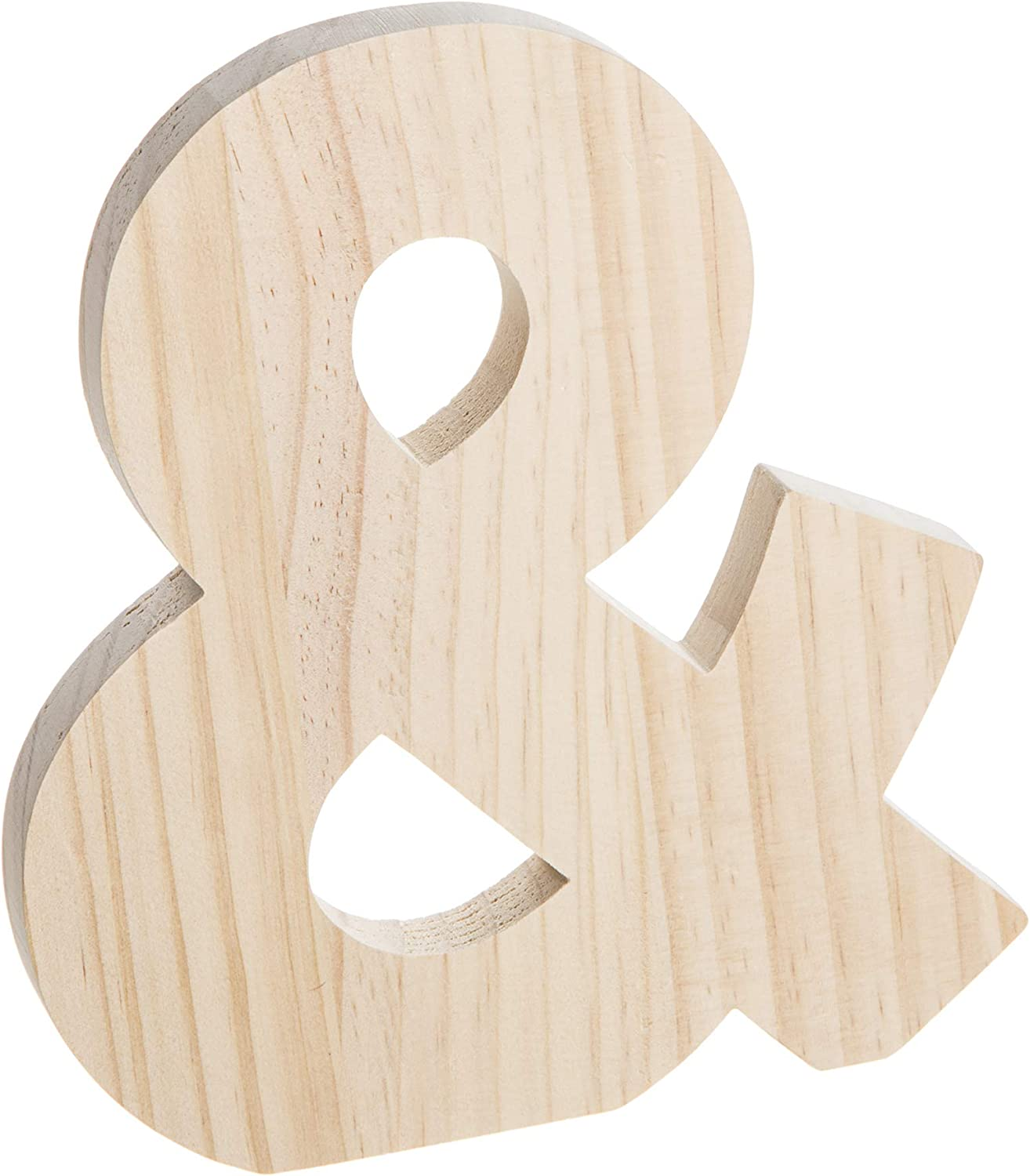 Darice Unfinished Wood Fashion Ampersand: x 8 inches Over item handling