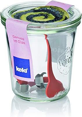 Kela ケラ 容器 クリアー サイズ:∅9×H9cm ウェック ガラスジャー 290ml 11152