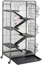 go2buy Metal 3 Doors Rats Rabbit Ferret Cage Playpen, 25.2 x 16.9 x 51.6 Inches