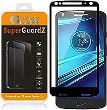 [Paquete de 2] para Motorola Moto Droid Turbo 2 Protector de pantalla de vidrio templado [Cobertura total], SuperGuardZ, Edge-to-Edge, Anti-Scratch, Anti-Bubble [Reemplazo de por vida]