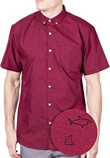 a1bb3344cfdd Visive Original Printed Short Sleeve Button Down Shirt Size Small - 4XL Big  Mens
