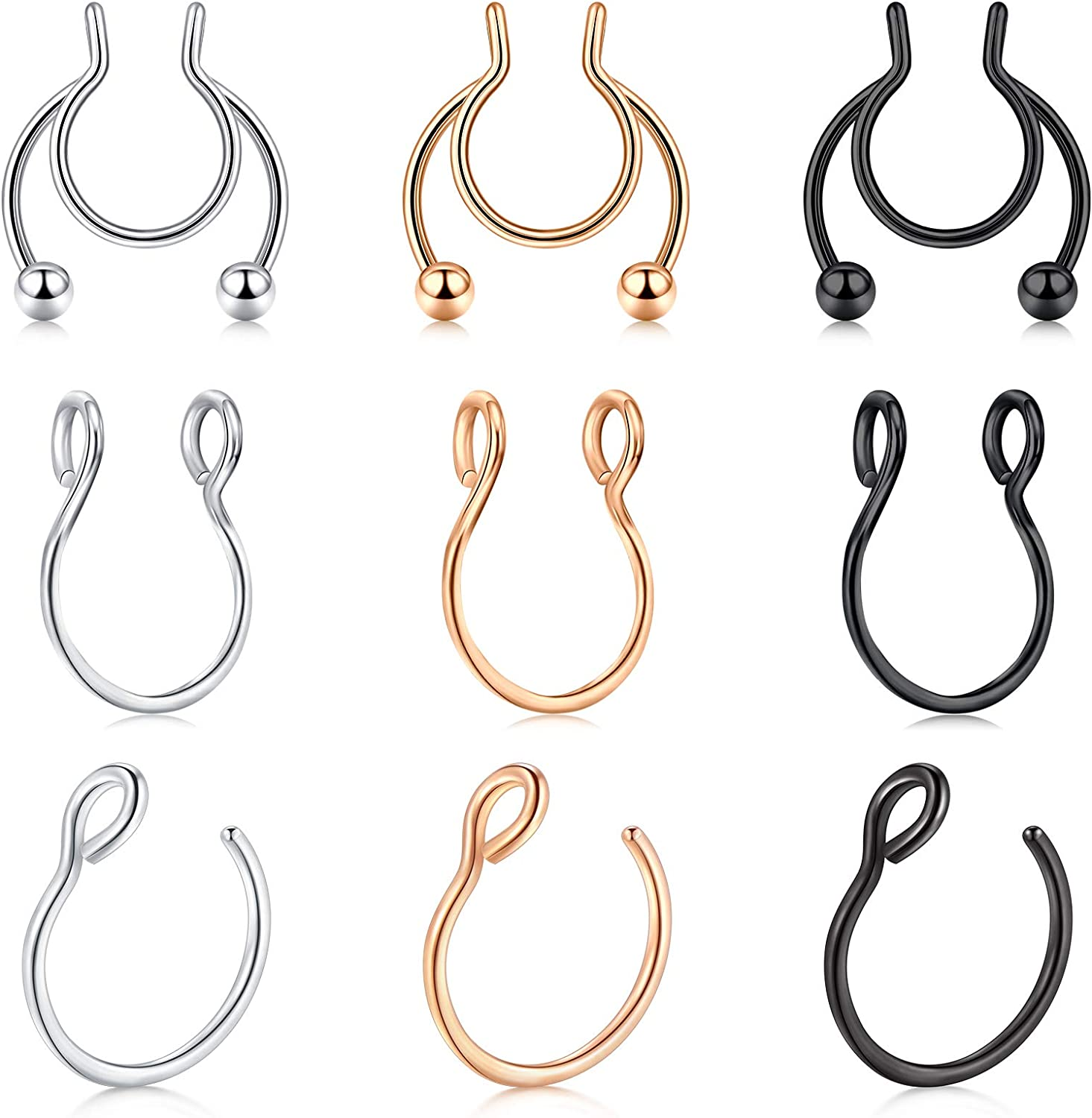 Price reduction MODRSA Fake Septum Rings Septu Jewelry Sales of SALE items from new works Faux Piercing