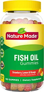 Nature Made 莱萃美 Fish Oil Adult Gummies Nutritional Supplements, Value Size, 150 Count
