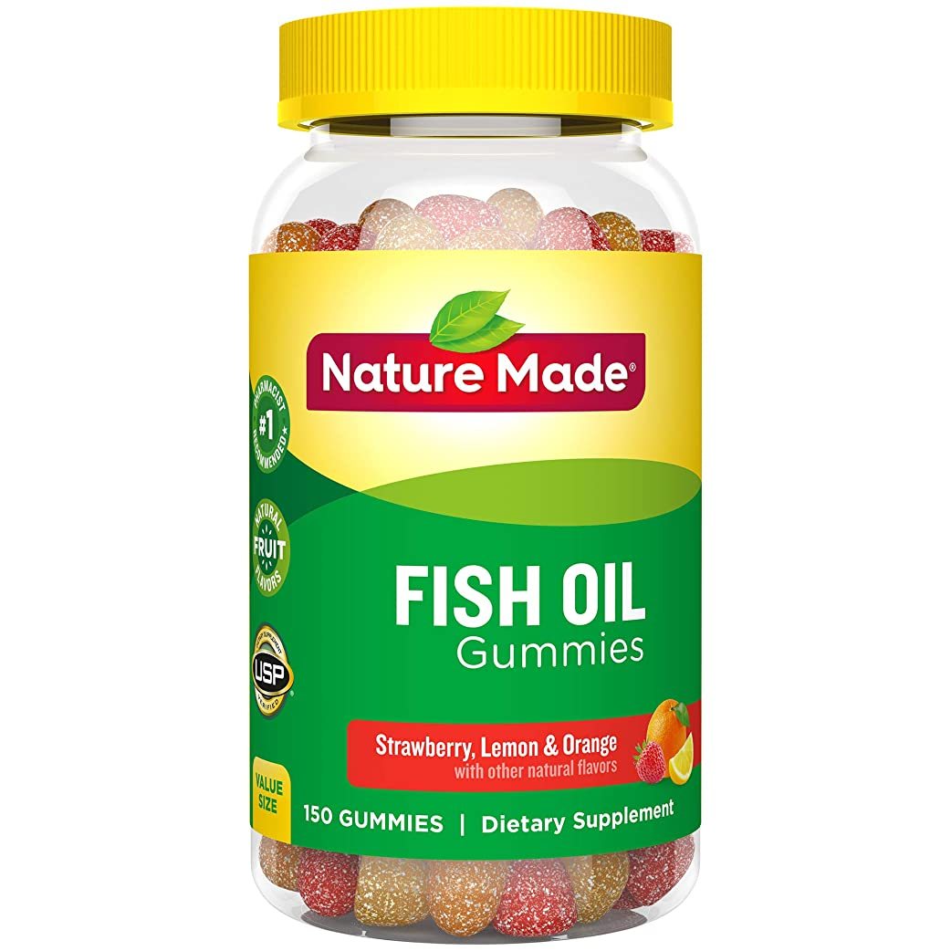 略す不調和有効Nature Made Fish Oil Adult Gummies Nutritional Supplements, Value Size, 150 Count 海外直送品