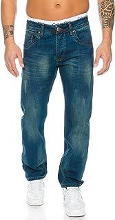 Rock Creek Men's Denim Stretch Regular Fit Jeans Stonewashed W29-W44