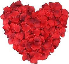 100 pieces artificial silk flower petals - Red