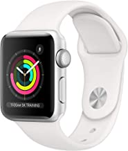 Apple Watch Series 3 (GPS, 38MM) - Silver Aluminum Case with White Sport Band - (Renewed)