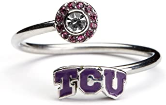 Texas Christian University Ring   TCU Horned Frogs Ring - Block TCU   Officially Licensed TCU Jewelry