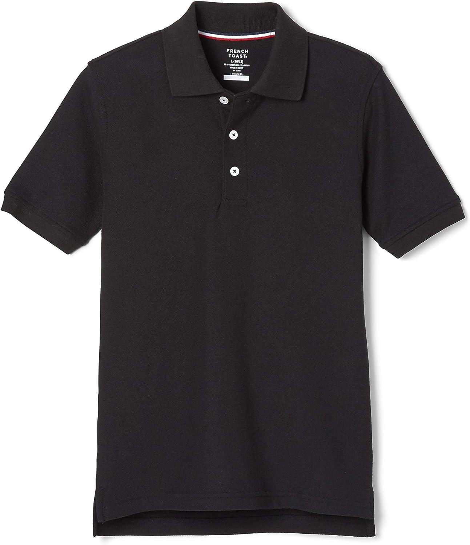French Toast Boys' Short Sleeve Pique Polo Shirt (Standard & Husky)