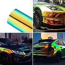 ATMOMO Metallic Color Holographic Chrome Vinyl Wrap Rainbow Finish Roll Glossy DIY Air-Release Adhesive Film 1.35Mx60CM