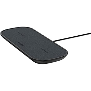 mophie 409903633 Dual Wireless Charging Pad - Made for Apple Airpods, iPhone Xs Max, iPhone Xs, iPhone XR and Other Qi-Enabled Devices - Black