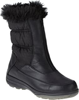 Darcie Women W Round Toe Leather Brown Mid Calf Boot