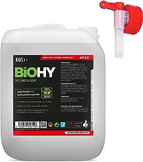BiOHY Środek do czyszczenia WC (kanister 10l) + kranik spustowy   BARDZO MOCNY   Profesjonalny koncentrat organiczny   Gęs...