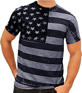 Jinidu Men's Fashion Long Sleeve Shirt Tree Shadow Printed Graphic Short Sleeve T-Shirt