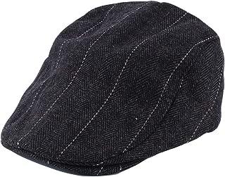 Yingwei VWH Winter Berets Hats for Men Women Cap Felt Striped Beret Hat Flat Cap
