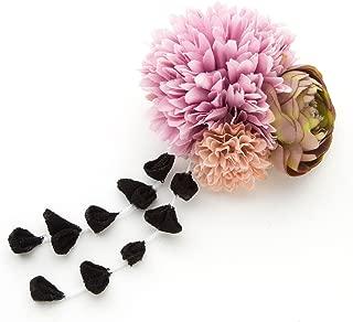 [ミッシュキッシュ]髪飾り 大小のマムと小バラに下がりが揺れる和風クリップ 4508-057