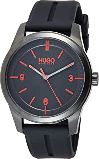 Hugo Boss Men's Black Dial Black Silicone Watch - 1530014