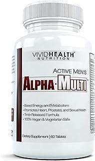 Active Men's Alpha-Multi - High Performance Zinc Multivitamin Providing Complete Nutrition for Active Men, Male Health, - ...