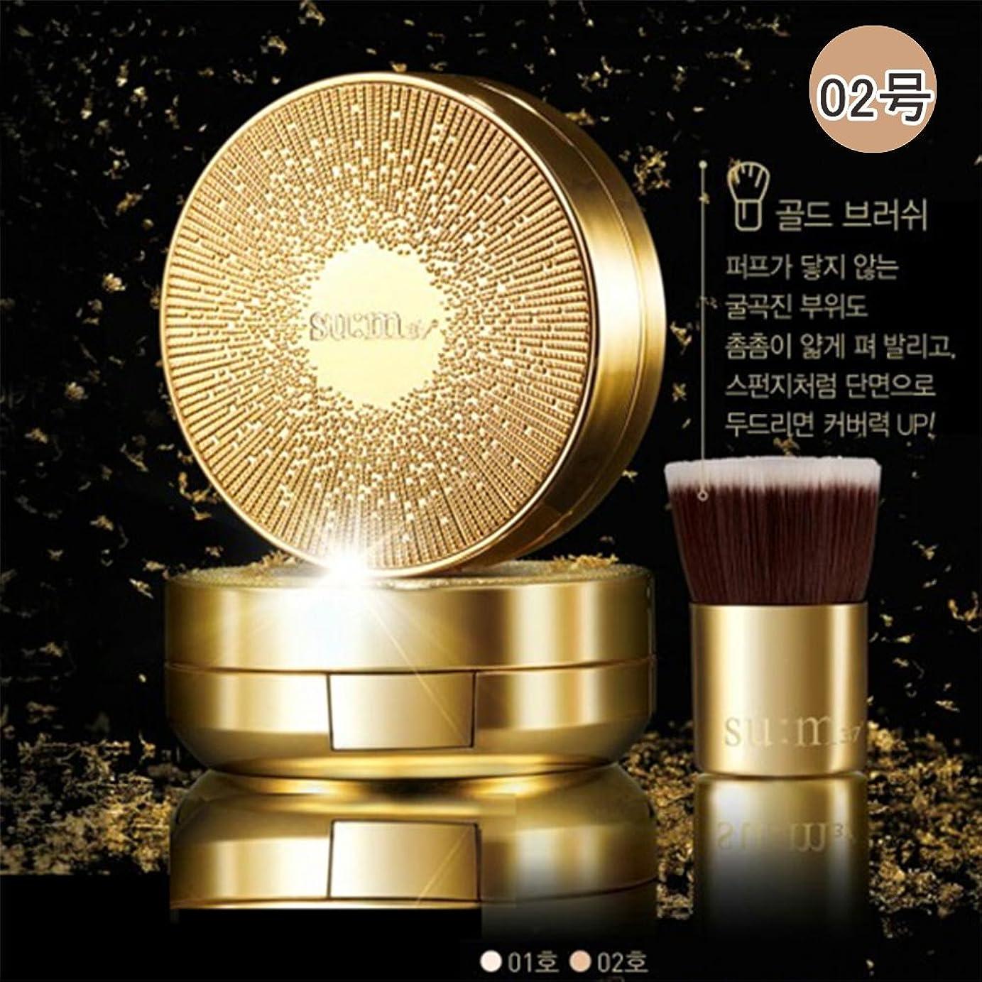 重要な形艶[su:m37/スム37°]Sum37 でシック スムマ ゴール ドメタルファンデーション クッション /スム37 Losec suma Gold Metal Foundation Cushion NO. 02 + [Sample Gift](海外直送品)