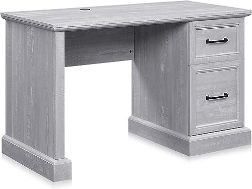 "2021 BELLEZE online sale Bonelli 50"" Executive outlet online sale Desk with 2 Storage Drawers, Stone Grey online sale"