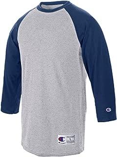 Raglan Baseball T-Shirt_Oxford Grey/Navy