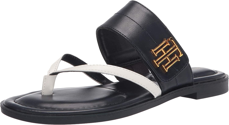 Tommy Hilfiger Women's Flat Sandal 品質保証 スーパーセール Twmeriem