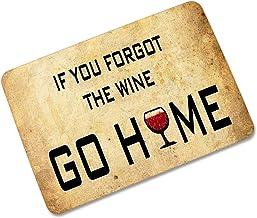 QZUnique Wine Cup Printed Non-slip Doormat Coral Fleece Indoor Outdoor Kitchen Floor Rug Front Door Mat Funny Flannel Carp...