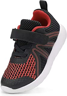 Sponsored Ad - DADAWEN Boys Girls Sneakers Kids Lightweight Breathable Strap Athletic Running Shoes