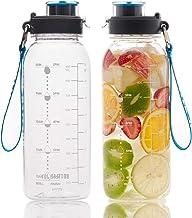 BOTTLED JOY 32oz Water Bottle, BPA Free Water Bottle with Motivational Time Marker Reminder Leak-Proof 1L Drinking Bottle ...
