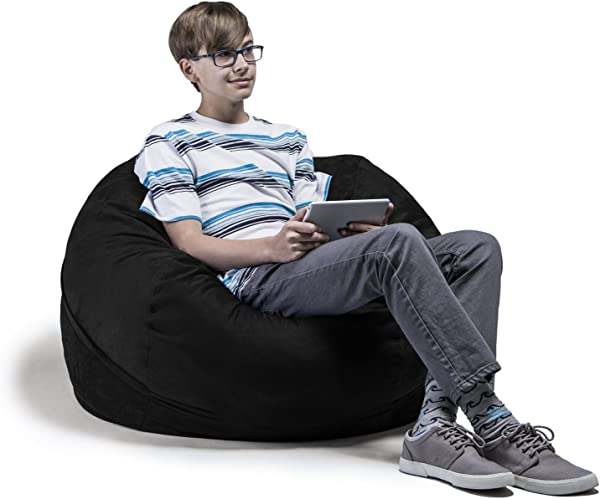 Jaxx Bean Bag Chair With Removable Cover 3 Black