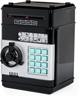 Stylebeauty Electronic Password Piggy Bank Cash Coin Can Money Locker Auto Insert Bills Safe Box Password ATM Bank Saver Birthday Gifts for Kids ( Black )