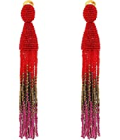 Oscar de la Renta - Long Ombre Tassel C Earrings
