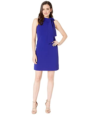 Vince Camuto Kors Crepe Halter Dress (Cobalt) Women