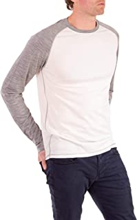 Woolly Clothing Men's Merino Wool Long Sleeve Baseball Shirt - Everyday Weight - Breathable Anti-Odor
