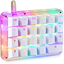 Koolertron One Handed Macro Mechanical Keyboard, Portable Mini One-Handed Mechanical Gaming Keypad 23 Fully Programmable Keys (Red Switches (RGB Backlit))