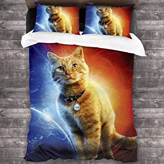 Goose The Cat Microfiber Comforter Set 86x70 in, Unique 3 Piece Bedding Sets with 2 Pillowcase