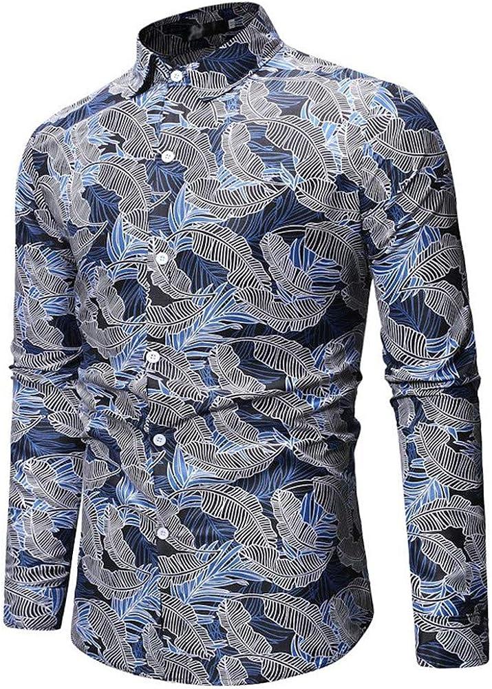 SXZG Tops para Hombre Nuevo patrón geométrico Camisa para ...
