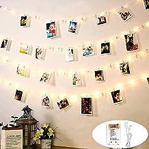DazSpirit Led-lichtsnoer met fotoclip voor de kamer