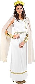dressforfun Déguisement de déesse Grecque Olympe pour Femme avec Parure de Cheveux, Robe + col orné de Paillettes et doré ...