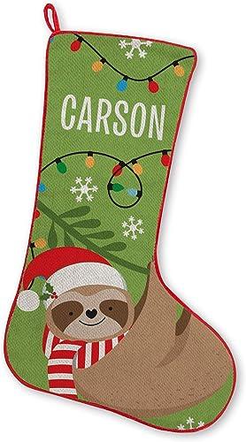 Let's Make Memories FA La La Friends Stocking, Christmas, Fireplace, Seasonal Décor - Sloth
