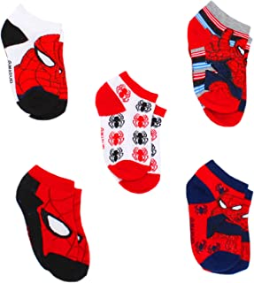Super Hero Adventures Spider-Man Boys 6 pack Athletic Crew Socks (12-24 Months, Red)