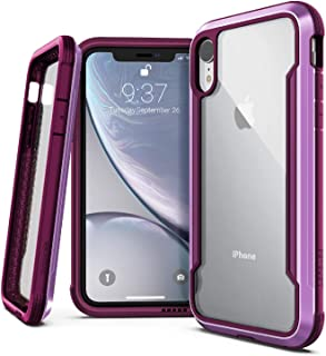 X-Doria Defense Shield, iPhone XR Case - Military Grade Drop Tested, Anodized Aluminum, TPU, and Polycarbonate Protective Case for Apple iPhone XR, 6.1 Inch LCD Screen (Purple)
