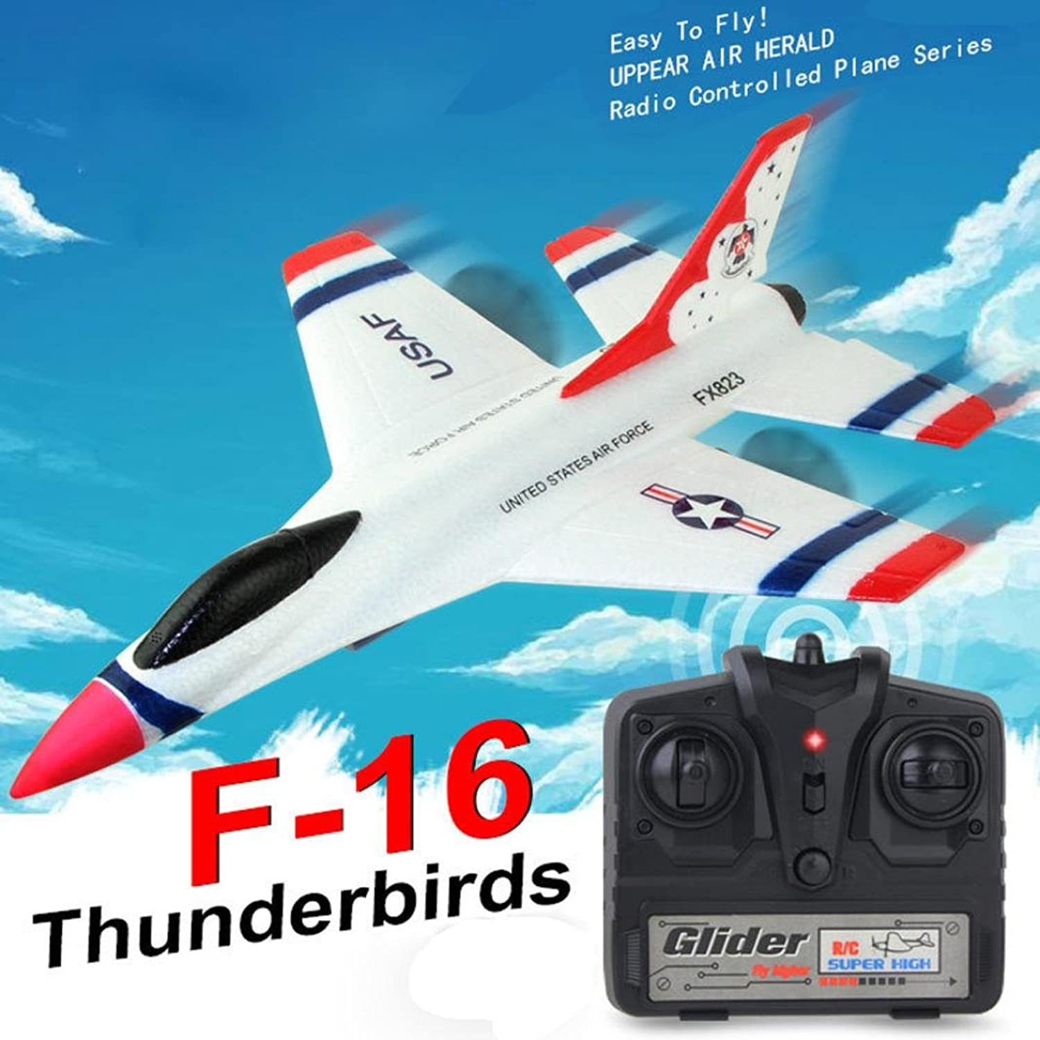 Nesee FX-823 2.4G 2CH RC Airplane Glider Remote Control Plane Outdoor Aircraft