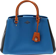 Coach Small Margot Carryall Shoulder/Crossbody Bag in Colorblock Leather in Azure Multi - F37248 SVEWK