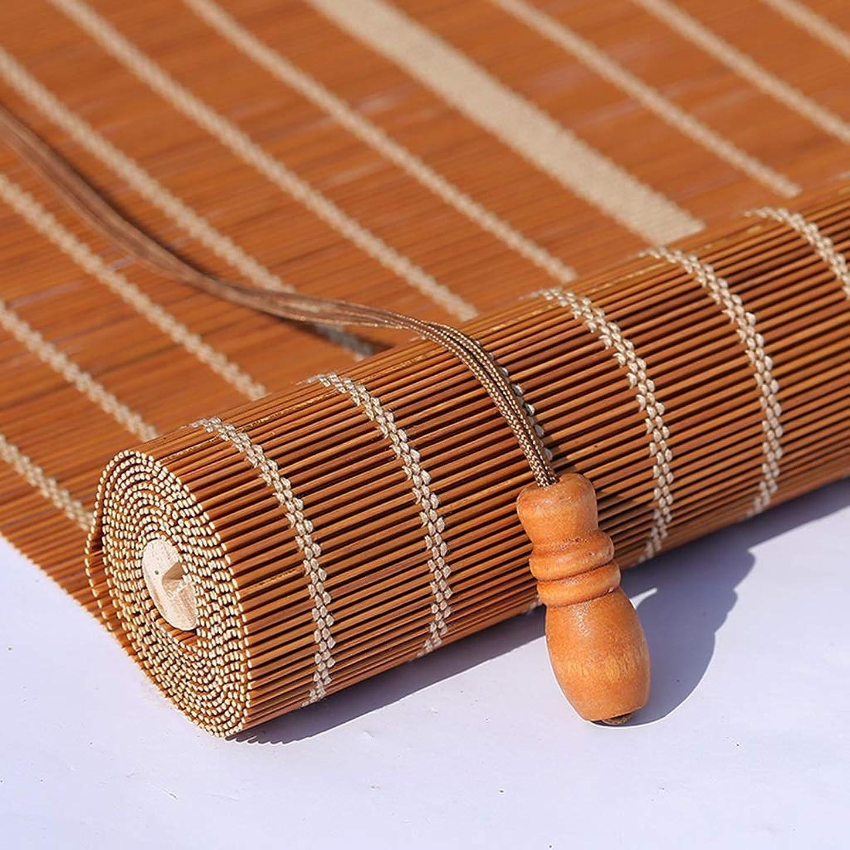お勧め放射能シロクマQ.AWOU Bedroom Roller Shades - Windows Bamboo Privacy Roll up Sun Blinds for Kitchen/Patio/Yard, 50/70/90/130cm Wide (Size : 50×50cm)