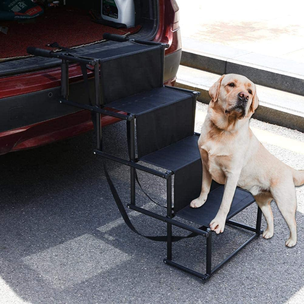 Massage-AED Rampa para Perros Plegables Realizaron Perros Conductor Estructura Metálica Rampa para El Coche, Grandes Portátil Ligero Y Duradero para Automóviles