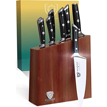 DALSTRONG Knife Set Block - 8 Piece - Gladiator Series - German HC Steel - Premium Food-Grade ABS Polymer Handles - NSF Certified
