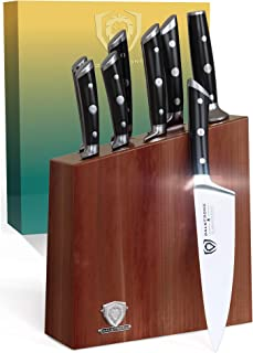 DALSTRONG Knife Set Block - Gladiator Series Knife Set - German HC Steel - Premium Food-Grade ABS Polymer Handles - 8 Pc