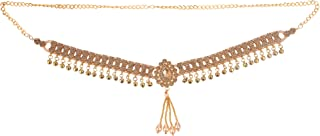 Archi Collection Fashion Jewellery Traditional Gold Plated Kundan Stone Pearl Tassel Kamarband Waist Chain for Women
